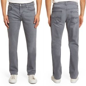 7 for All Mankind Standard Straight Leg Gray Jeans